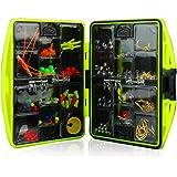 KKmoon Kit de acessórios de pesca incluindo anzol Sinker Pesos Giros de pesca Snaps Linha de pesca Beads Conjunto de pesca co