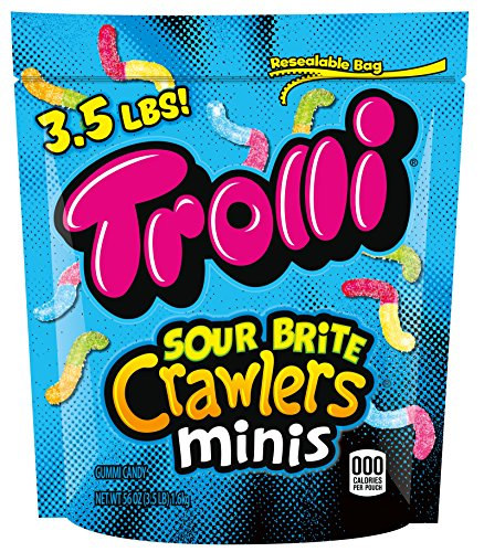 Mini Worms - Trolli Sour Brite Crawlers Minis Gummy Worms Candy, 56 Ounce