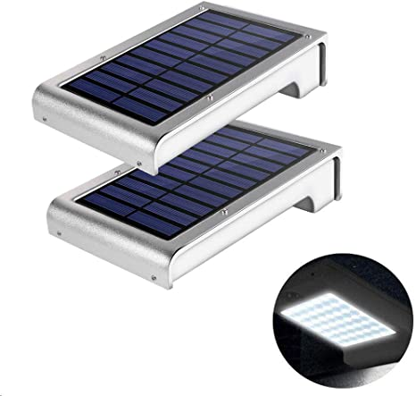Solar Wandleuchte Greempire 49 Led Solarleuchten Solarlampen Wand Ip65 Wasserdicht 6000k Kaltweiß 420lumen Wandbeleuchtung Außenleuchte Mit Der