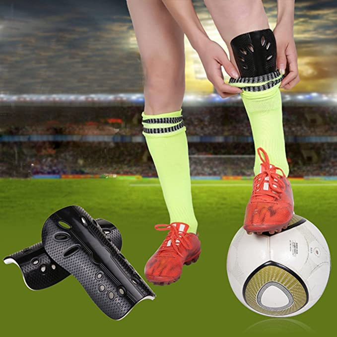 Amazon.com : CTRICKER 1 Pair Soccer Shin Pads Cuish Plate Soft Soccer Football Shin Guard Pads Leg Protector for Children Breathable Shinguard : Sports & ...