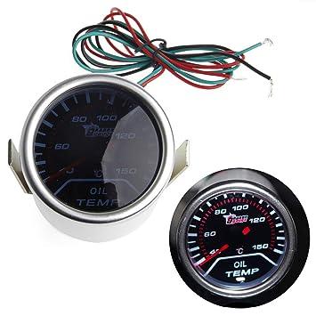 Medidor de temperatura de aceite haia7k4k, medidor de temperatura universal, 2 pulgadas, lente