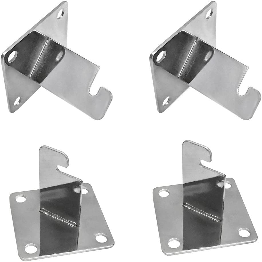 Gridwall Wall Mount Brackets Heavy Duty Grid Panel Mounting Hangers White 20 Pack