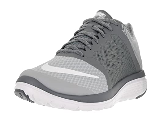 Nike Men's FS Lite Run 3 Wolf Grey/White Cool Grey Running Shoe 9 Men