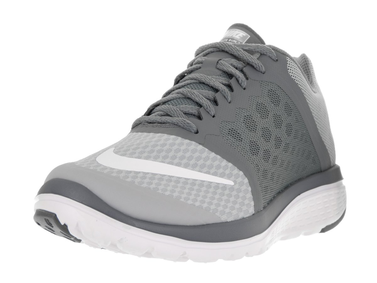 e4a808f5c60 Galleon - Nike Mens FS Lite Run 3 Wolf Grey White Cool Grey Running Shoe  10.5 Men US