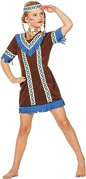 Disfraz de india flecos azules niña: Amazon.es: Juguetes y juegos