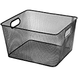vegetable basket storage - Ybm Home Household Wire Mesh Open Bin Shelf Storage Basket Organizer Black For Kitchen Pantry, Cabinet, Fruits, Vegetables, Pantry Items Toys 1041s (1, 10 x 9 x 6)