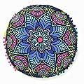 PHOTNO Pillow Covers Indian Mandala Floor Pillows Round Bohemian Cushion Cushions pillowcase covers