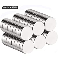 50 Pcs Fridge Magnets with A Storage Box Strong Round Magnets Neodymium Magnets for Pin Board White Board Notice Board or Picture Magnet