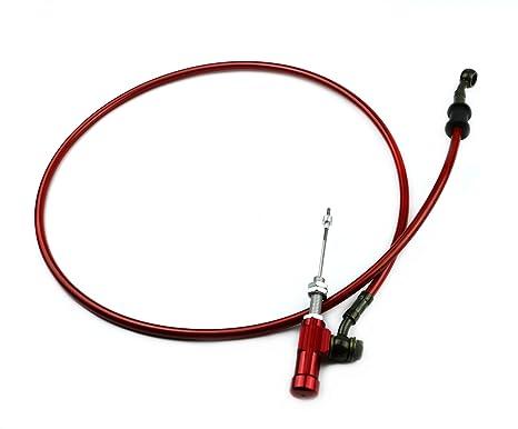 Línea de manguera trenzada de acero reforzado hidráulica para freno y embrague