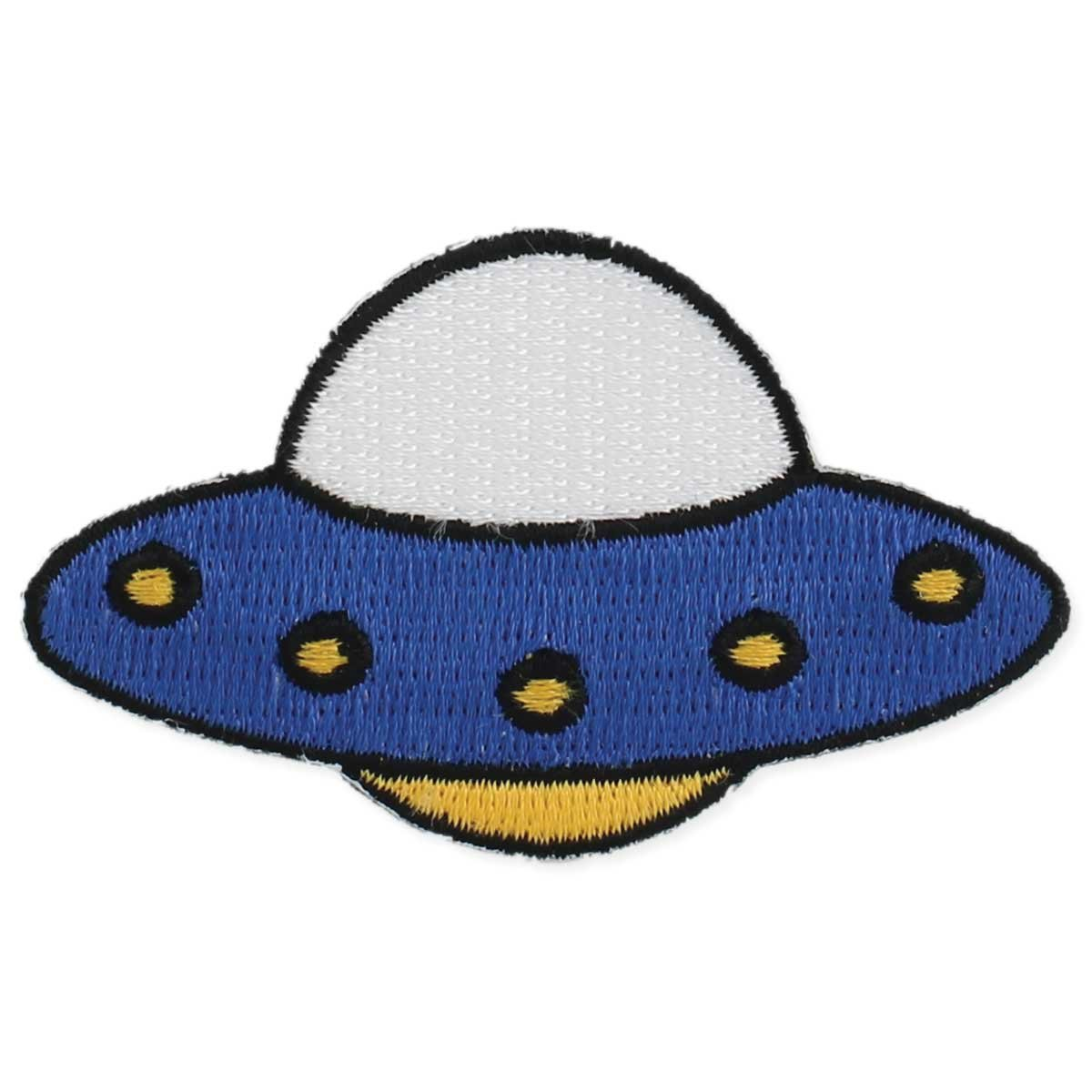 Zad Unidentified Fashion Object UFO Embroidered Iron On Patch Applique, Multi F1044