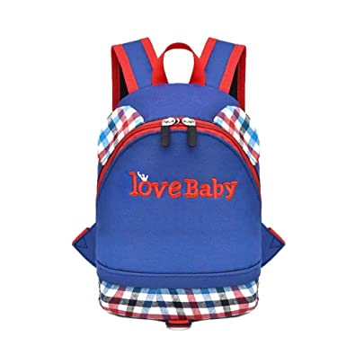 Child Baby Boys Girls zoo Kids Small Toddler Plaid Letter Print Backpack  Toddler School Bag Student 5519fa9ca532b