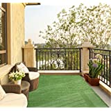 """Ottomanson Evergreen Collection Indoor/Outdoor Green Artificial Grass Turf Solid Design Area Rug, 3'11"""" x 6'6"""""""
