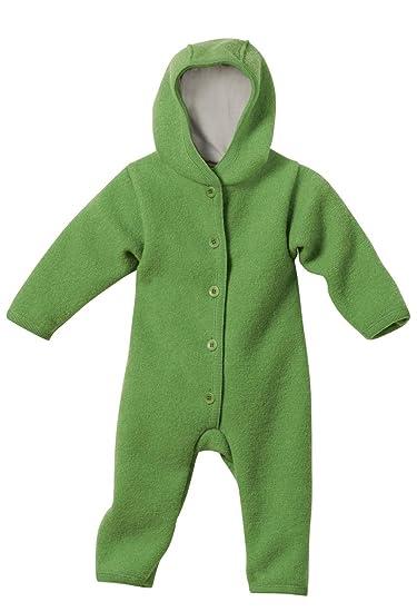 Disana Baby Walk Overall aus Bio Schurwolle kbT, grün Gr. 50/56