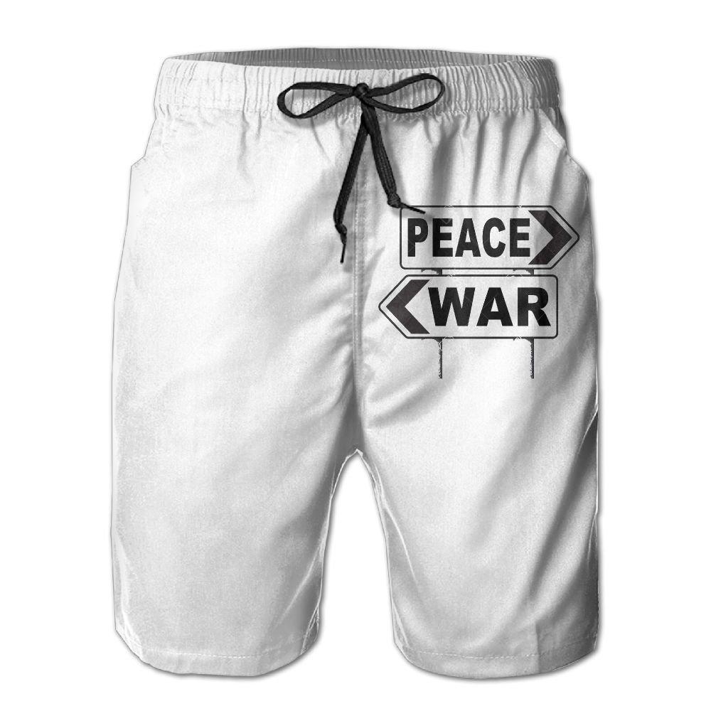 Make Love Not War Fight for Peace Boardshorts Mens Swimtrunks Fashion Beach Shorts Casual Shorts Beach Shorts