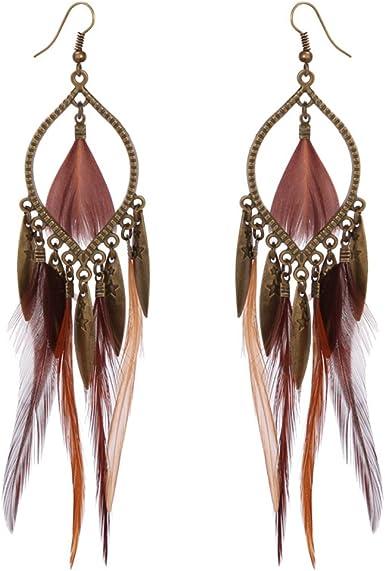 plumes boucle d'oreille