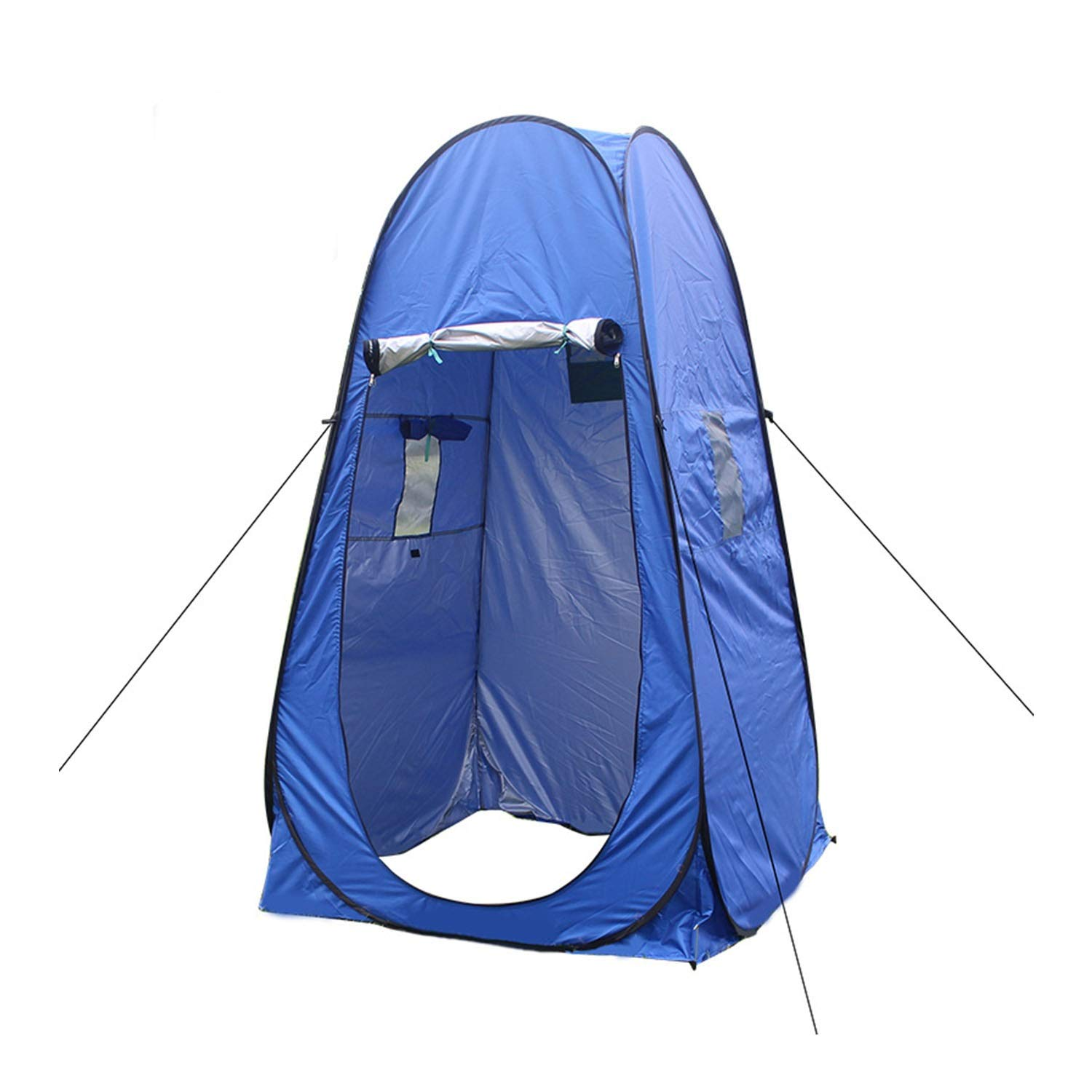 YOZOOE Outdoor Mobile Toilet,Camping Speed Open Tent, Automatic Dressing Account, Bathing Single Tent, Easy to Carry Camping Supplies (Color : Blue) by YOZOOE