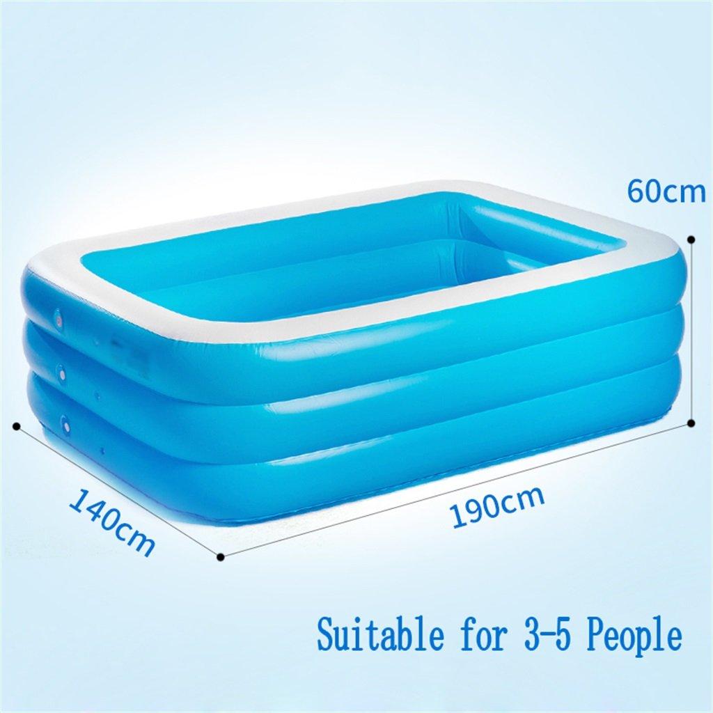 LQQGXL,Bath Large Inflatable Bathtub / Swimming Pool Pool Children's / Infant / Adult / Family's Sea Pool Suitable for 3-5 people (190 140 60cm) Inflatable bathtub