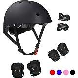 Kids Bike Helmet Pad Set Toddler Helmet 3-13 Years, Knee and Elbow Pads with Wrist Guards, Sport Protective Gear Set Boy…