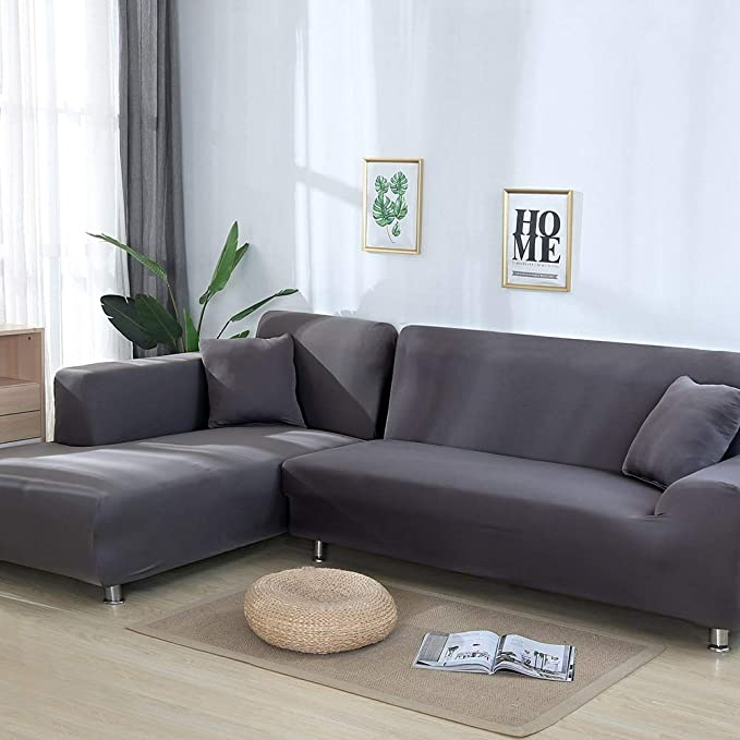 style14,1-Seat 90-140 OKJK Fundas para Sofa Chaise Longue para El Protector del Sof/á De La Sala De Estar Cubre Sofas Impermeable El/ástica Universal De Lana De Ma/íz En Forma De L