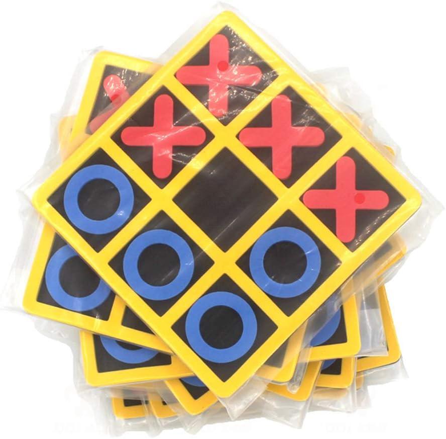 TENGXI 3 Piezas Tic TAC Toe Juegos de Mesa Juego de Juegos de Juguetes EVA para ni/ños Ni/ños para ni/ños de Todas Las Edades Juego