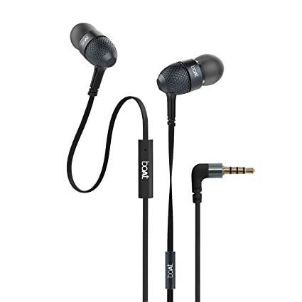 1cad49d4c72 Buy boAt BassHeads 220 Headphones with Mic (Black) Online at Low Prices in  India - Amazon.in