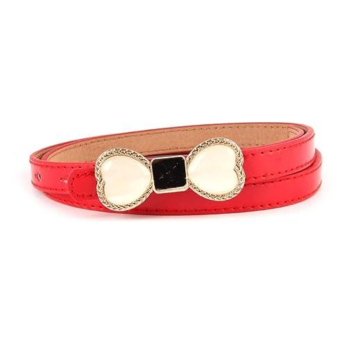 Cinturón De Damas Cinturón De Vestidos Pequeños,Red-103*1.5cn