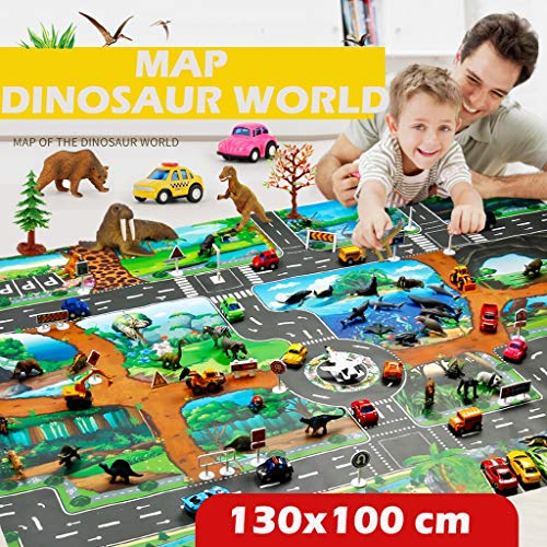 Mat Dinosaur World Parking Map Game Scene Map Educational Toys ()
