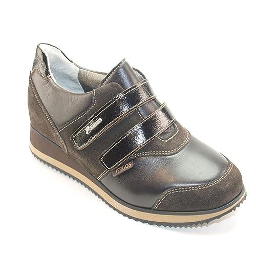 Hergos H 8104 Cabeza de Moro Nappaflex - Zapato Ergonómico Para juanetes, Auténtica Piel - Biscocho Ultimi Números Marrón Size: 36: Amazon.es: Zapatos y ...