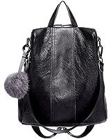 JeHouze Fashion Women Handbag Genuine Leather Backpack Casual Shoulder Bag Anti-theft purse