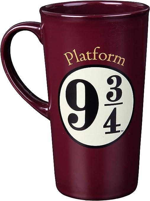 Harry Potter Platform 9 3/4 Heat Reveal Tall Ceramic Mug - Hogwarts Express Image Activates with Heat - Tumbler Style - 17 oz