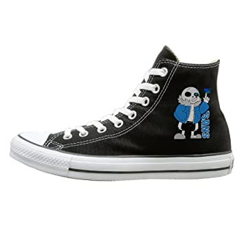 Amazon.com: Jajade Unisex Sans Undertale Role-playing Video Game Character High Top Sneakers Canvas Shoes Design Sport Shoes Particular 43 Black: Sports & ...