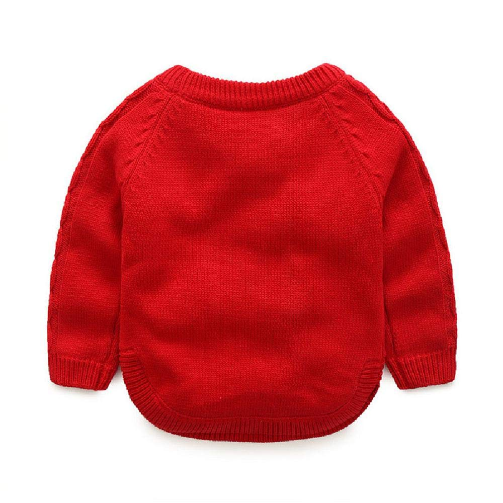 BCVHGD Winter Top Kids Sweater Baby Knitted Cardigans Toddler Boys Sweater Woolen Fleece Pullover Girls