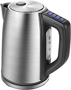 Homevolts Digital Temperature Control Kettle1.7L Stainless Boil Dry Protection Tea Kettle with Strix