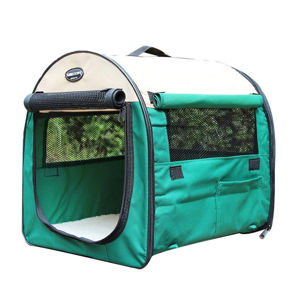 犬小屋 ペットの家 屋外犬のテント 中小型と大型の犬用フェンス 通気性と ペットの巣 ペットの夏の蚊よけテント 折りたたみ式ペット旅行テント (Color : Green, Size : 51*70*58.5cm) B07NVJPPP5 Green 36*46*41cm 36*46*41cm Green