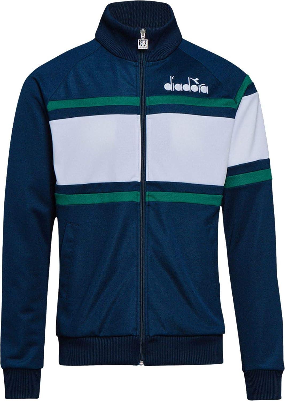 Blue Diadora Mens 80S Track Jacket