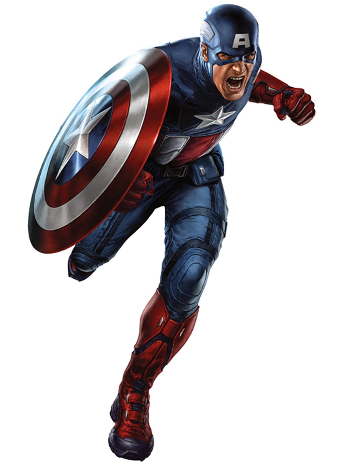 Captain America Wall sicker Vinyl wall art 3 SIZES for cars bikes caravans homes Customise4UTM (700mm) by Customise4u WallArt