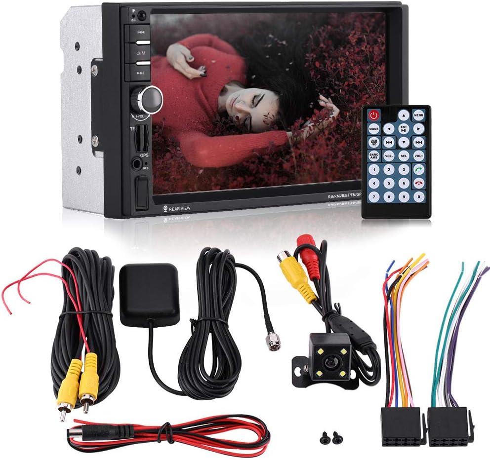 Touchscreen universale HD Bluetooth Car MP5 Player Radio FM GPS AUX Telecomando Telecamera per retromarcia da 7 pollici