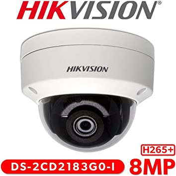 Outdoor Dome IP Security Camera DS-2CD2185FWD-I Hikvision 4K 8.0MP EXIR H.265