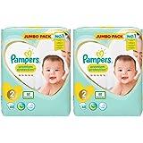Pampers New Baby Nappies Jumbo Pack, taglia 2, 2x 68pezzi