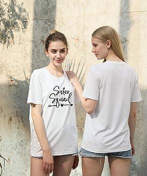 Mejores Amigas Camisetas para 2 Mujer Best Friends para 2 Chica BFF Camisetas Impresi¨®n Sister T-Shirts Flecha BFF T-Shirt Hermana Camisa Verano Manga Corta 100% Algod¨®n Negro Blanco 63 Piezas: Amazon.es: Ropa