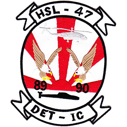 (HSL-47 Helicopter Anti-Submarine Squadron Light Patch DET-IC 89-90)