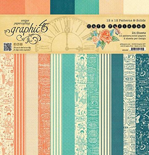 graphic-45-4501435-cafe-parisian-12-x-12-patterns-solids-pad