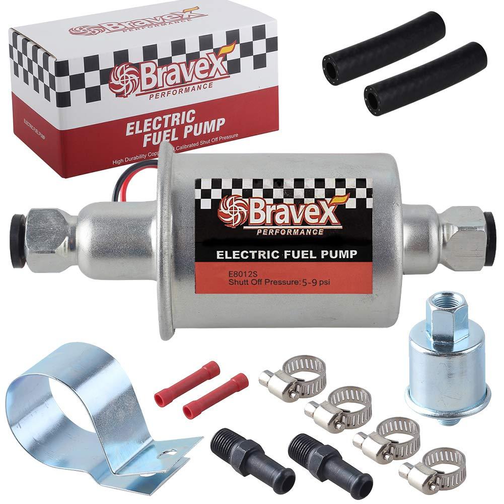 Voltstorm Universal Electric Fuel Pump Low Pressure 5-9 PSI 12V w//Installation Kit E8012S