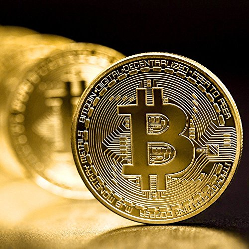 Generic Bitcoin Gold Plated Physical Fantasy Issue Coin In Protective Acrylic Case