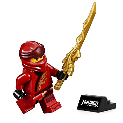MINIFGIURES Lego Ninjago Legacy Minifigure - Kai (with Dragon Sword and Display Stand) 70670: Toys & Games