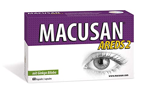 Amazon.com: MACUSAN® AREDS2 Formula Vitamins The Intensive Therapy for Eye with Lutein Zeaxanthin Ginko Biloba: Health & Personal Care