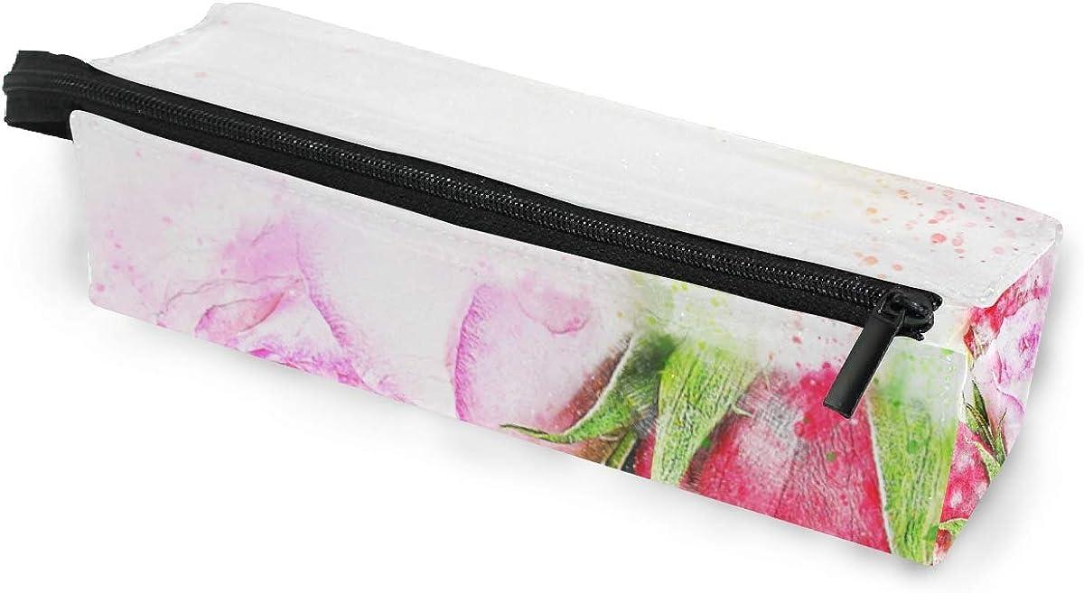 Cute Glasses Case Bag Pencil Case 338.7 IN Rose Watercolor