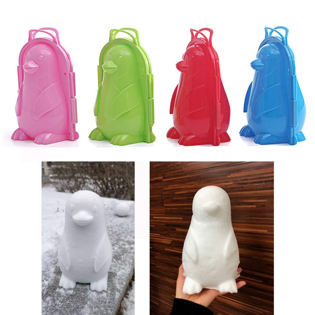 Schnee-Spiel-Werkzeug 1 St/ück EDQZ Pinguin-Schnee-Clip f/ür Kinder Zuf/ällige Farbauswahl niedliche Pinguin-Form