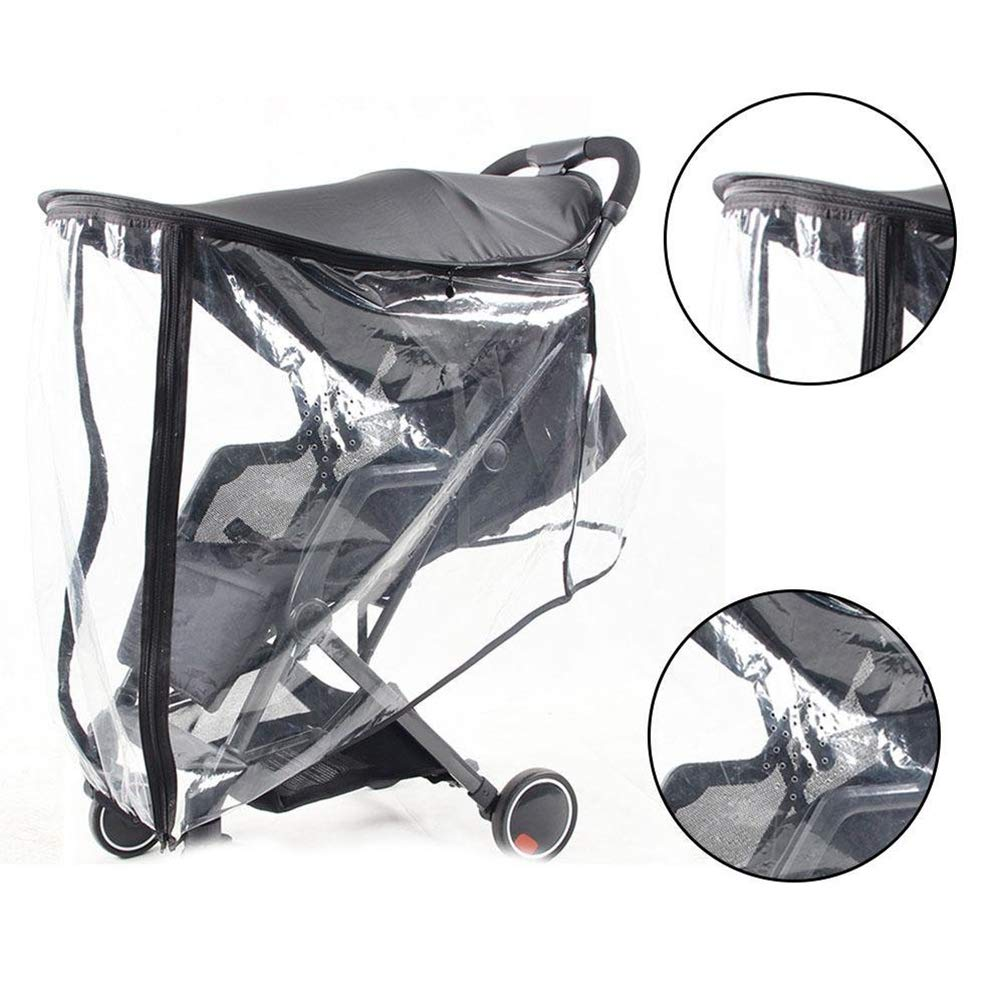 3-in-1 Baby Stroller Sun Shade, Rain Cover Mosquito Net Awning Anti-UV Windproof Waterproof Premium Umbrella Canopy Cover