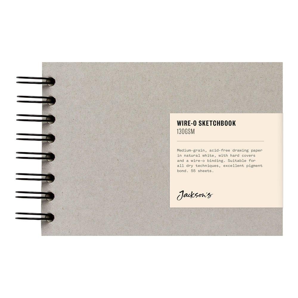 Jackson's : Wire-O Sketchbook : 130gsm : 55 Sheets : A6 : Landscape Jackson' s